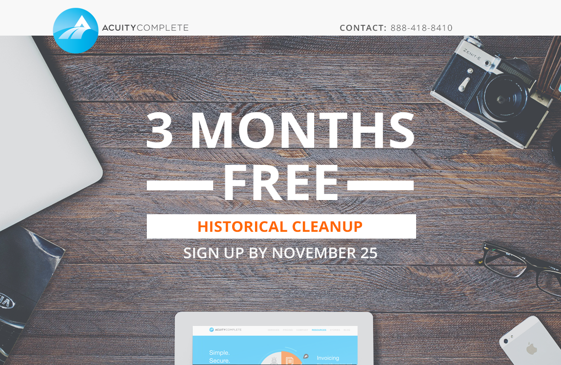 free bookkeeping cleanup