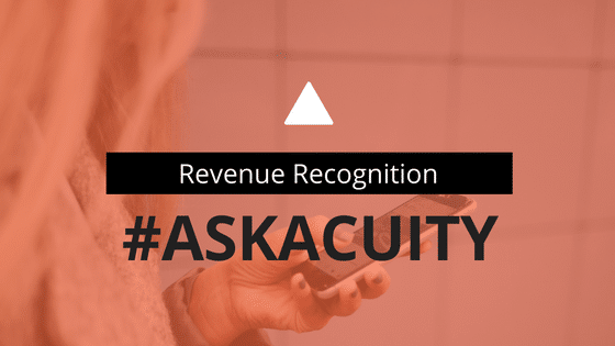 #AskAcuity – Revenue Recognition in 2017