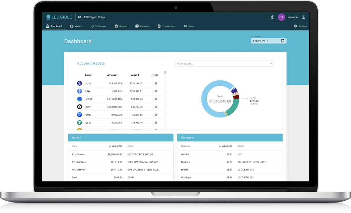 Verady cryptocurrency accounting software