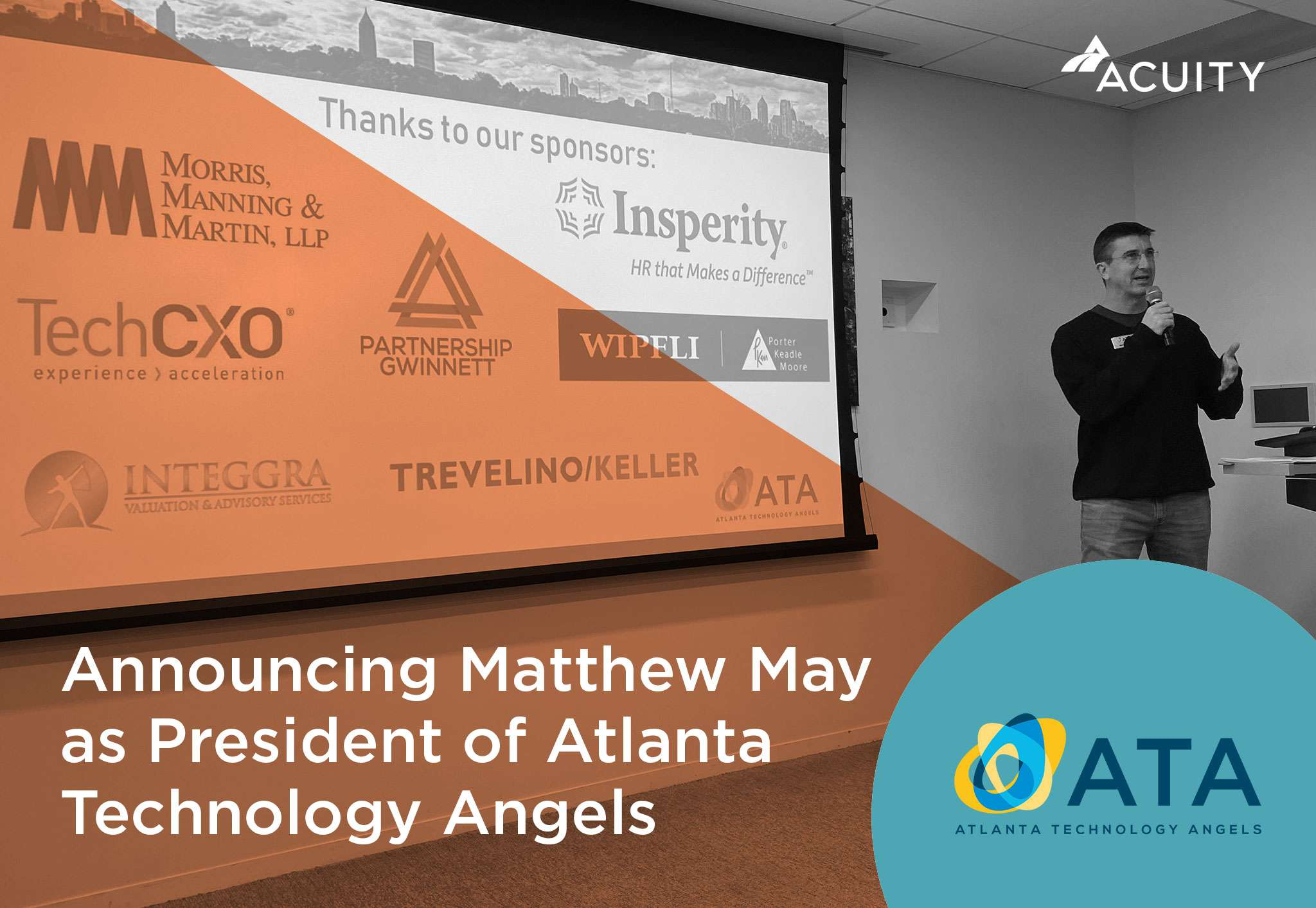 Acuity Co-Founder Matthew May Named President of Atlanta Technology Angels